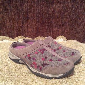 Easy Spirit Purple Gray Suede Women's Mules Sz 8.5